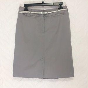 LOFT Ann Taylor Skirt Grey